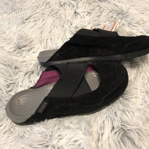 NEW Crocs Edie Mule Women's Black Suede